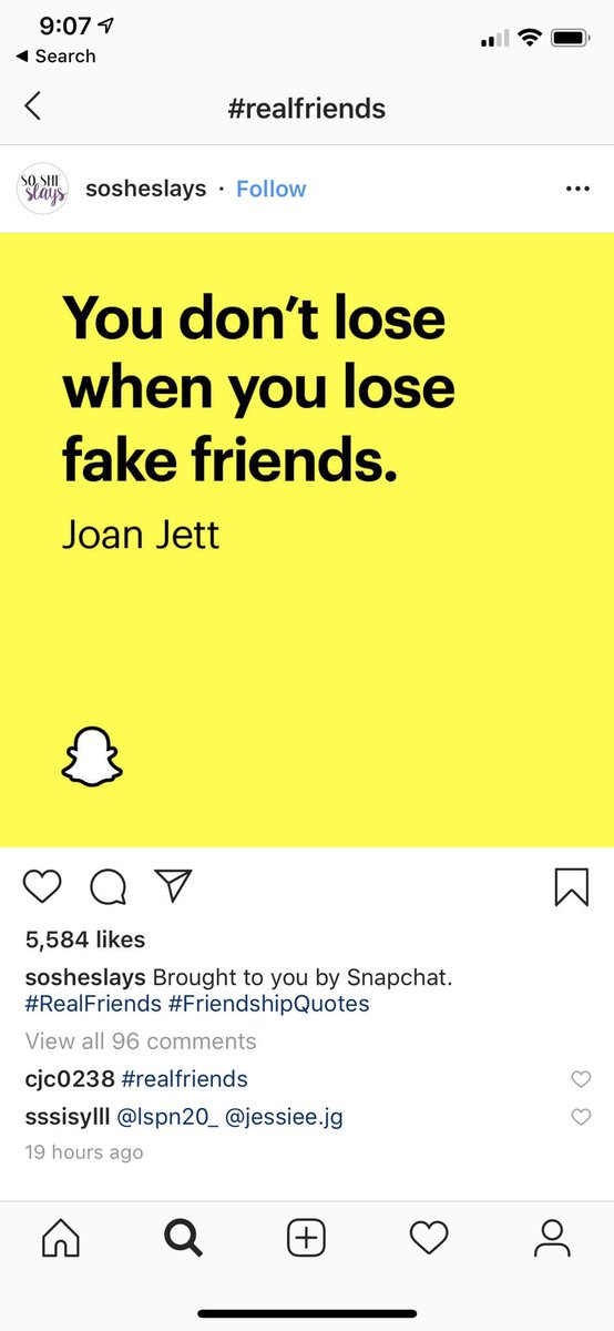 Instagram post on snapchat real friend campaign 4