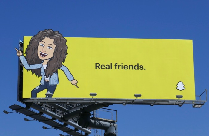 Snapchat Billboard for real Friends 3