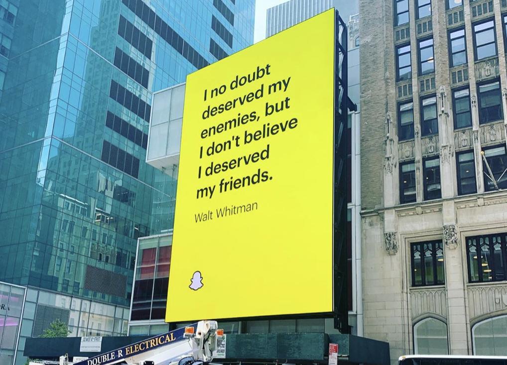 Snapchat Real friends billboard 1