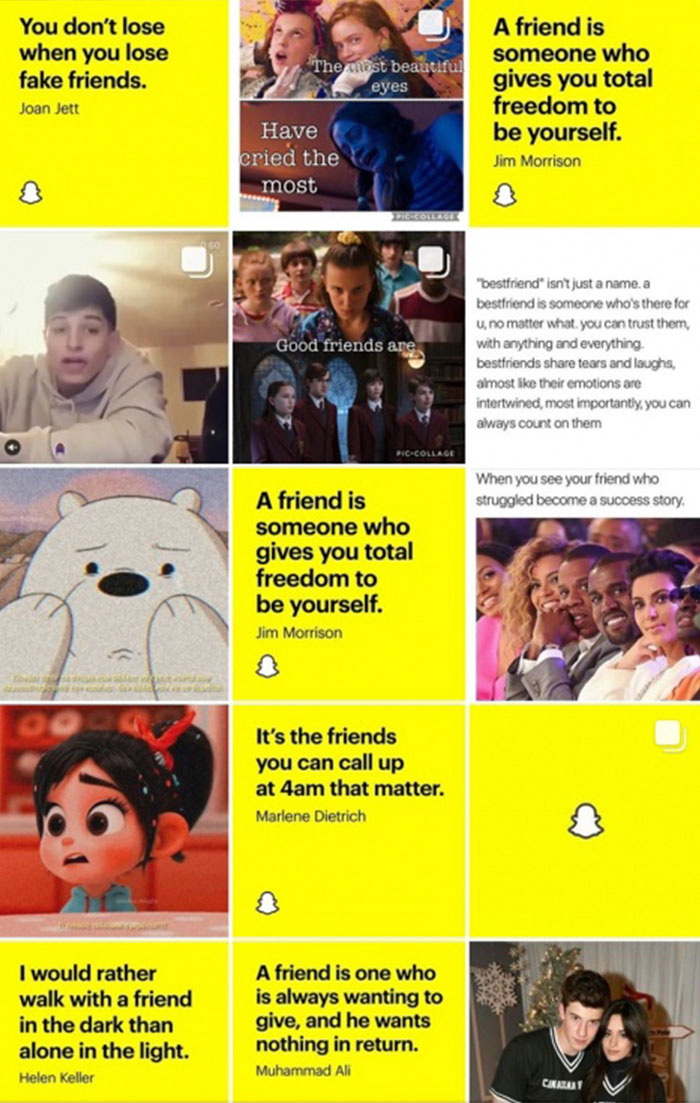 Snapchat real friends on Instagram Explore feed 2
